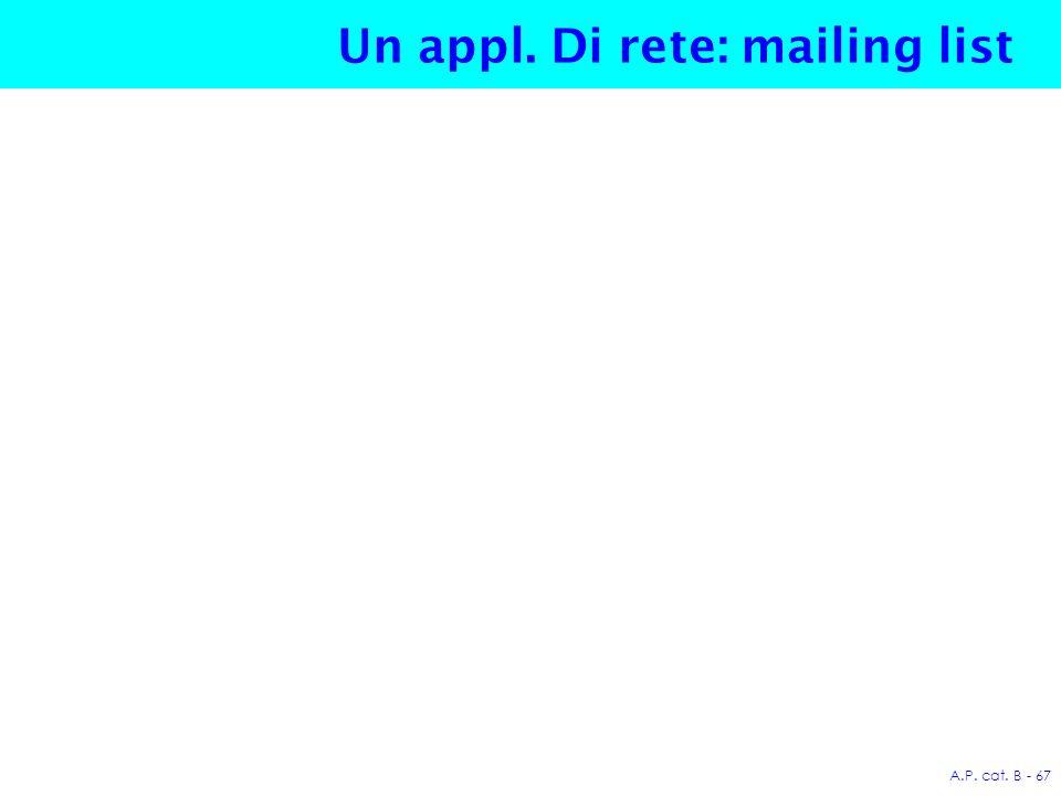 A.P. cat. B - 67 Un appl. Di rete: mailing list