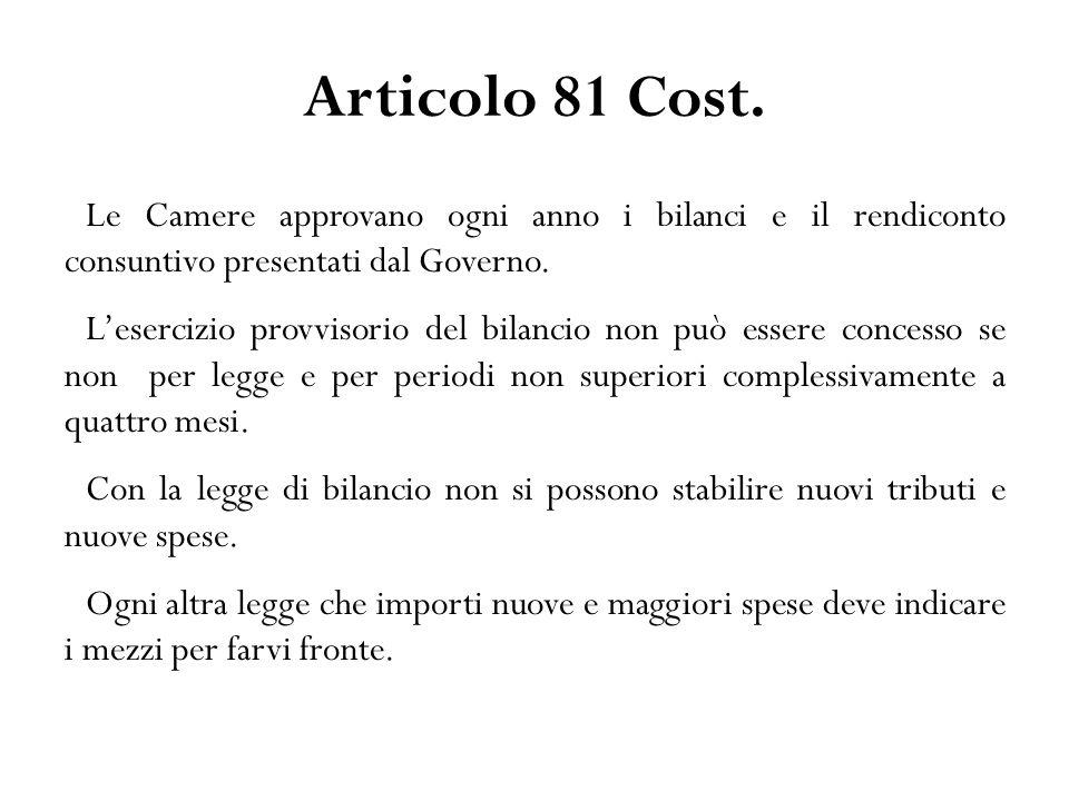 Articolo 81 Cost.
