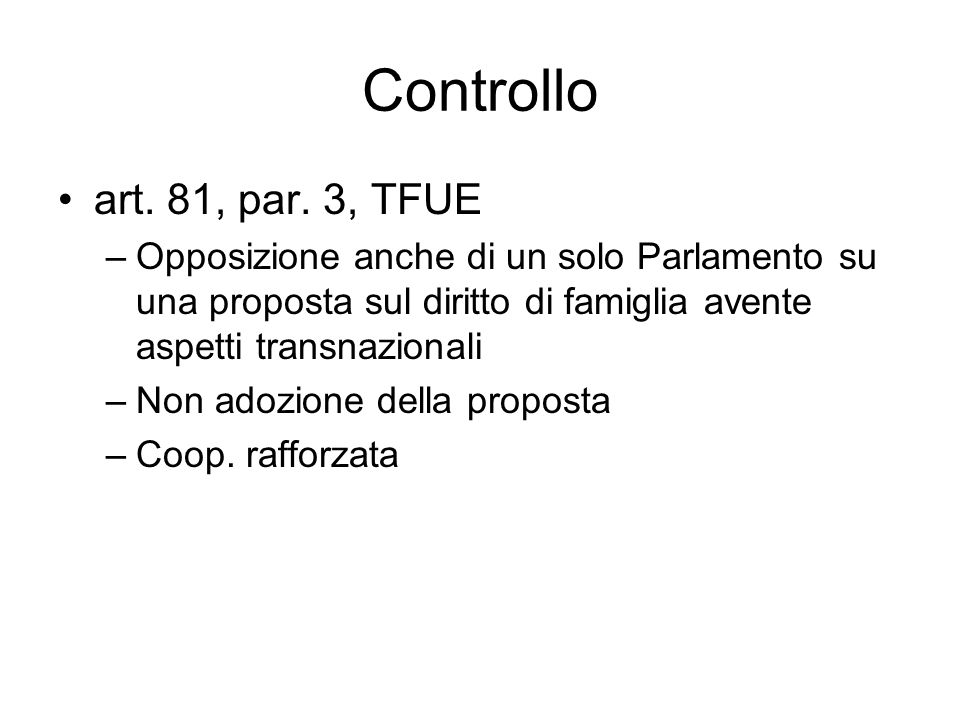 Controllo art. 81, par.