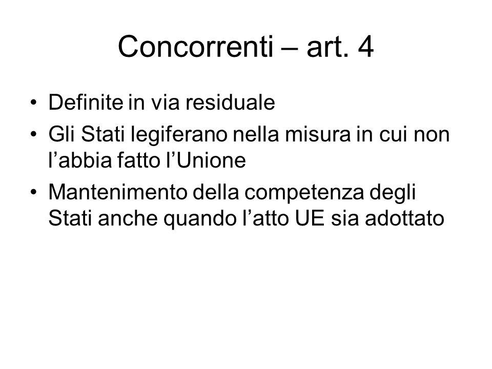 Concorrenti – art.