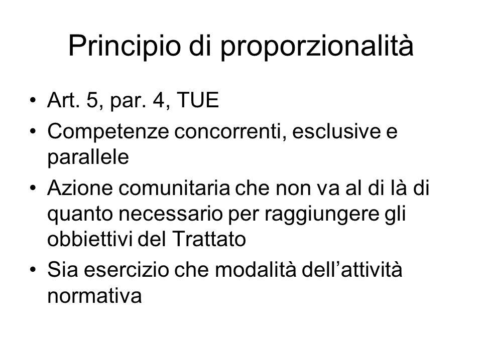 Principio di proporzionalità Art. 5, par.