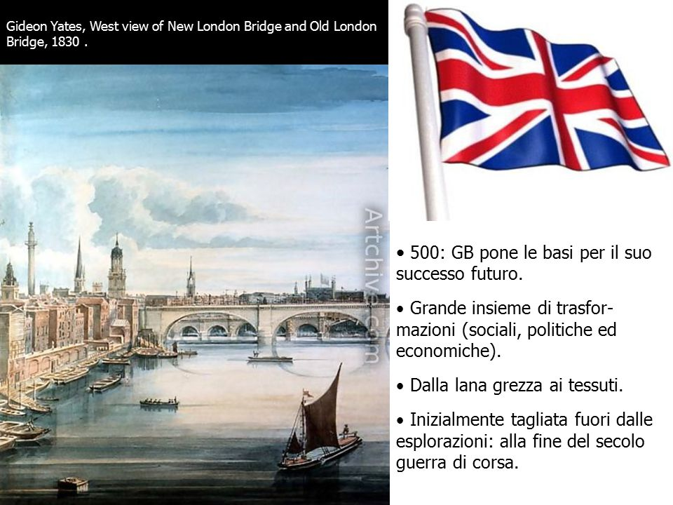 Gideon Yates, West view of New London Bridge and Old London Bridge, 1830.