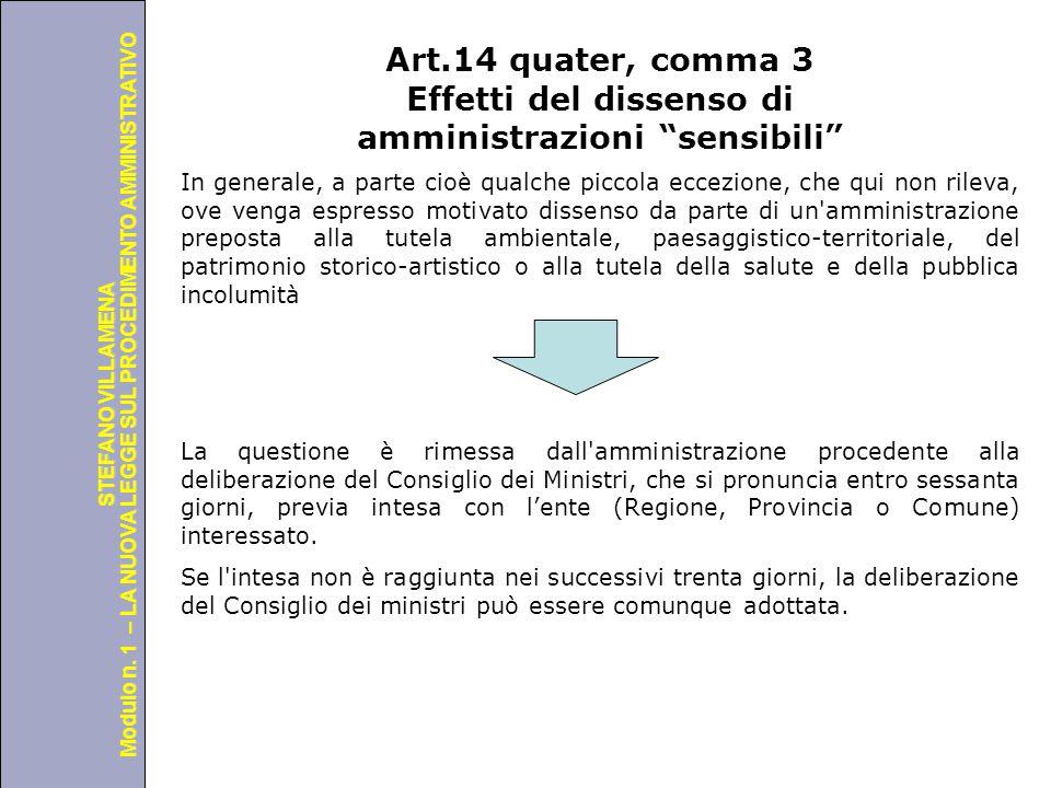 Università degli Studi di Perugia Modulo n. 1 – LA NUOVA LEGGE SUL PROCEDIMENTO AMMINISTRATIVO STEFANO VILLAMENA Art.14 quater, comma 3 Effetti del di