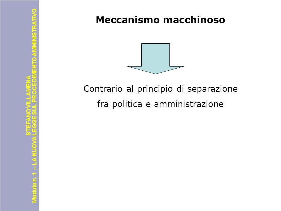 Università degli Studi di Perugia Modulo n. 1 – LA NUOVA LEGGE SUL PROCEDIMENTO AMMINISTRATIVO STEFANO VILLAMENA Meccanismo macchinoso Contrario al pr