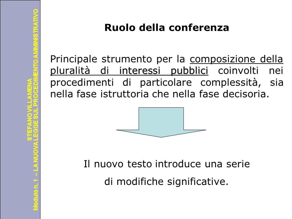 Università degli Studi di Perugia Modulo n. 1 – LA NUOVA LEGGE SUL PROCEDIMENTO AMMINISTRATIVO STEFANO VILLAMENA Ruolo della conferenza interessi pubb