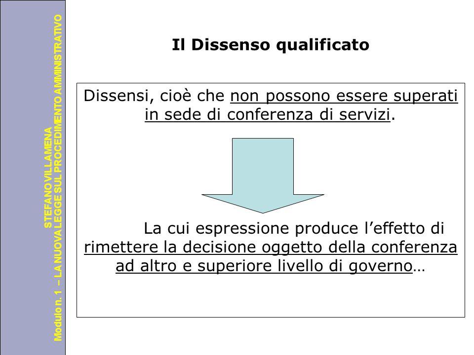 Università degli Studi di Perugia Modulo n. 1 – LA NUOVA LEGGE SUL PROCEDIMENTO AMMINISTRATIVO STEFANO VILLAMENA Il Dissenso qualificato Dissensi, cio