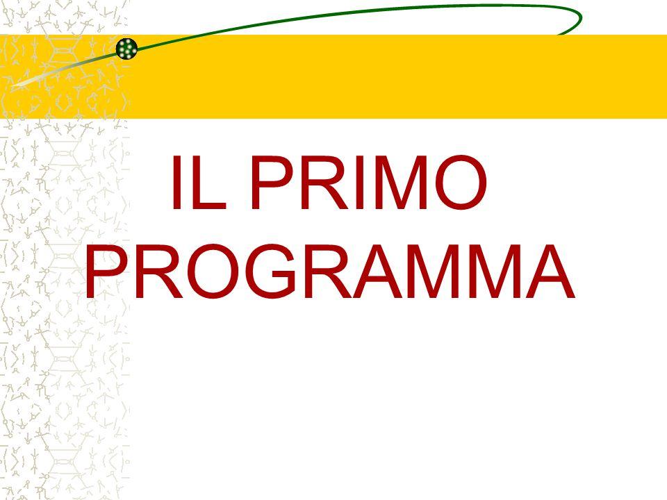 IL PRIMO PROGRAMMA