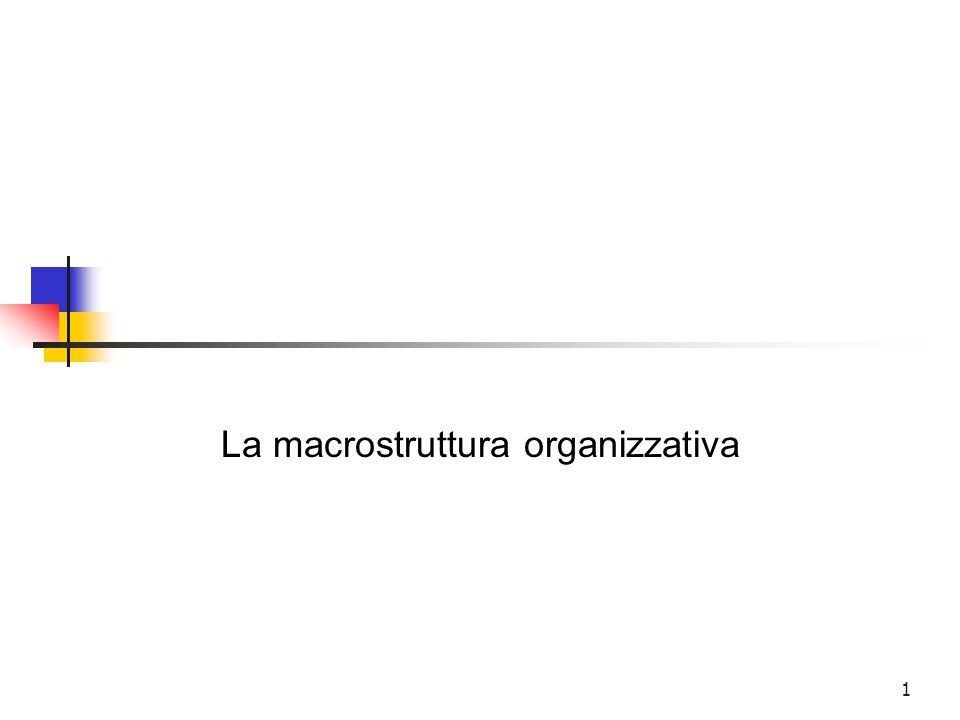1 La macrostruttura organizzativa