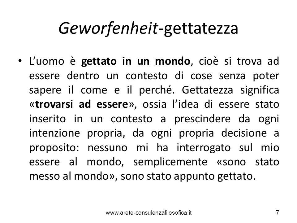 Abbandono (Gelassenheit) L'essere che così si dona, lasciando essere l'ente, non può a maggior ragione essere dominato.