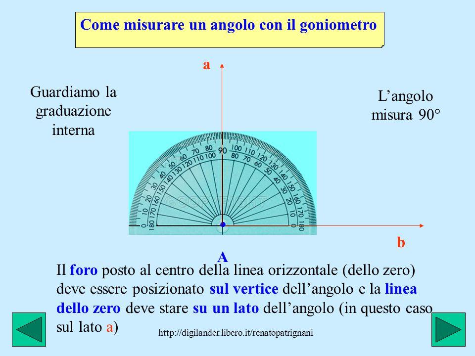 http://digilander.libero.it/renatopatrignani L'angolo giro misura 360° (il doppio dell'angolo piatto): le due semirette che lo formano sono sovrapposte, A come le due lancette di un orologio alle ore 12 precise, quando quella grande ha completato un giro completo.