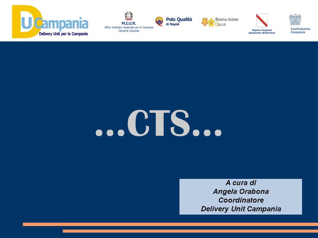 …CTS… A cura di Angela Orabona Coordinatore Delivery Unit Campania