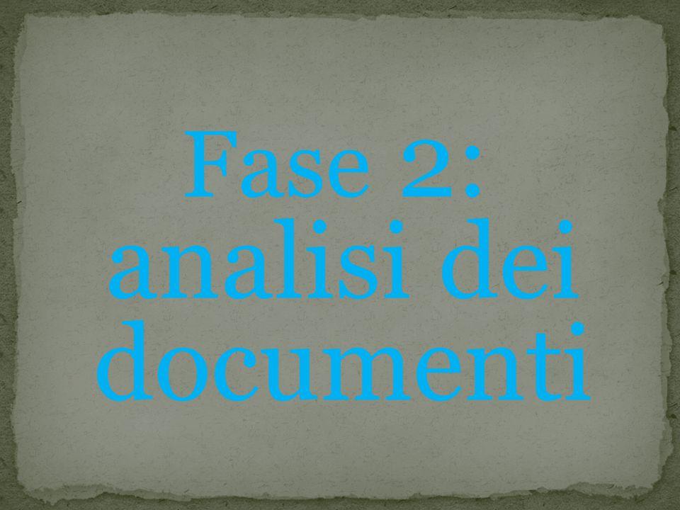 Fase 2: analisi dei documenti