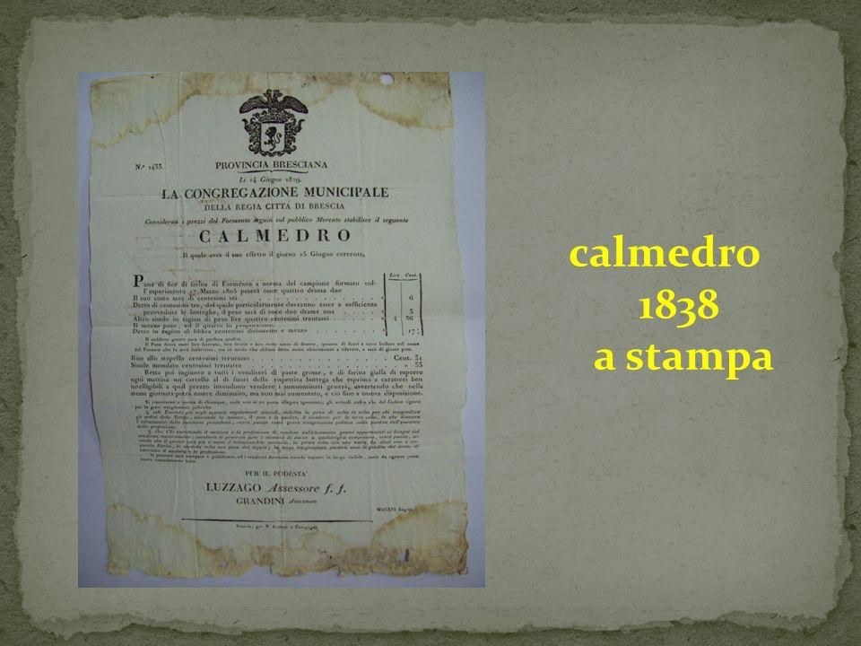 calmedro 1838 a stampa