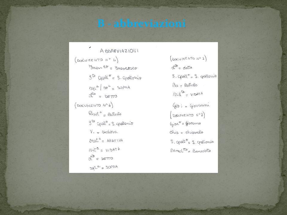 B - abbreviazioni