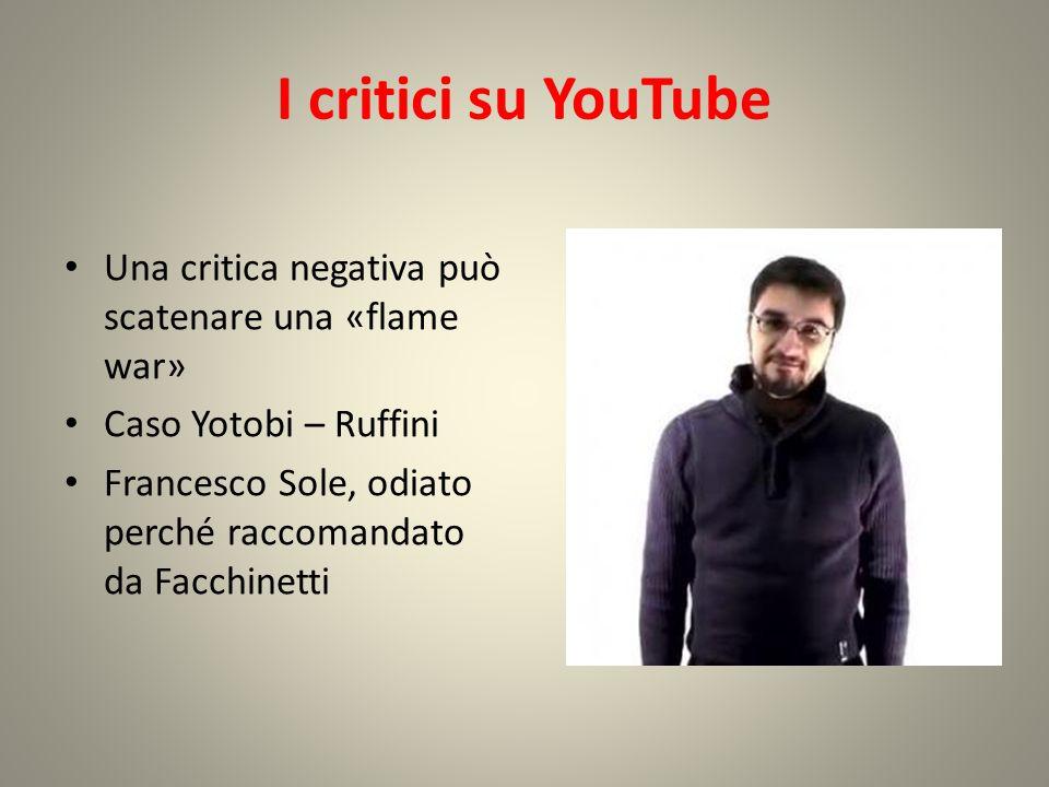 YouTube come mezzo d'informazione Breaking Italy Diffidenza dei giovani nei confronti di media tradizionali Notizie date da qualcuno vicino alla «massa»