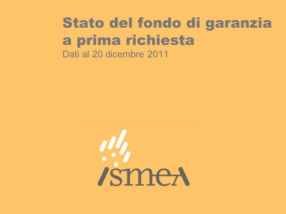 Stato del fondo di garanzia a prima richiesta Dati al 20 dicembre 2011