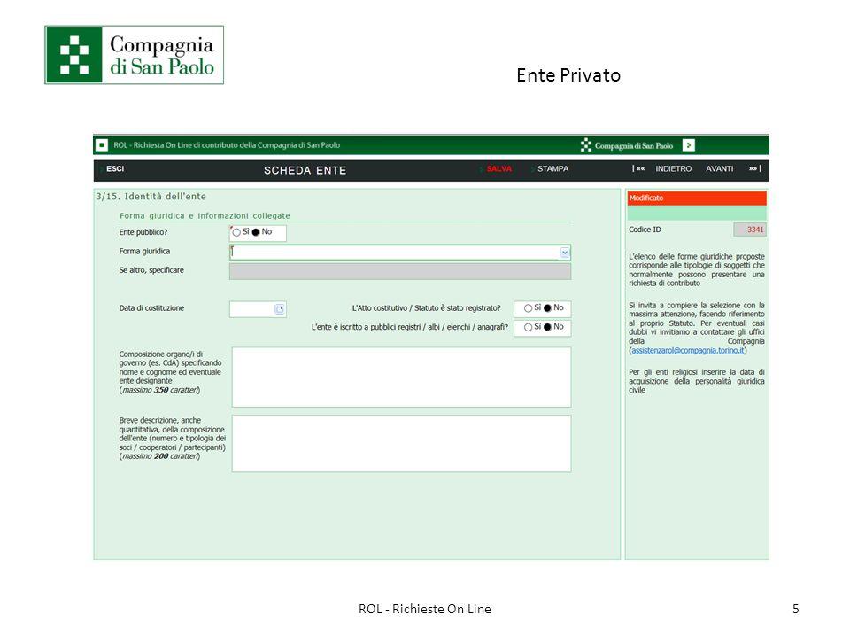 Ente Privato 5ROL - Richieste On Line