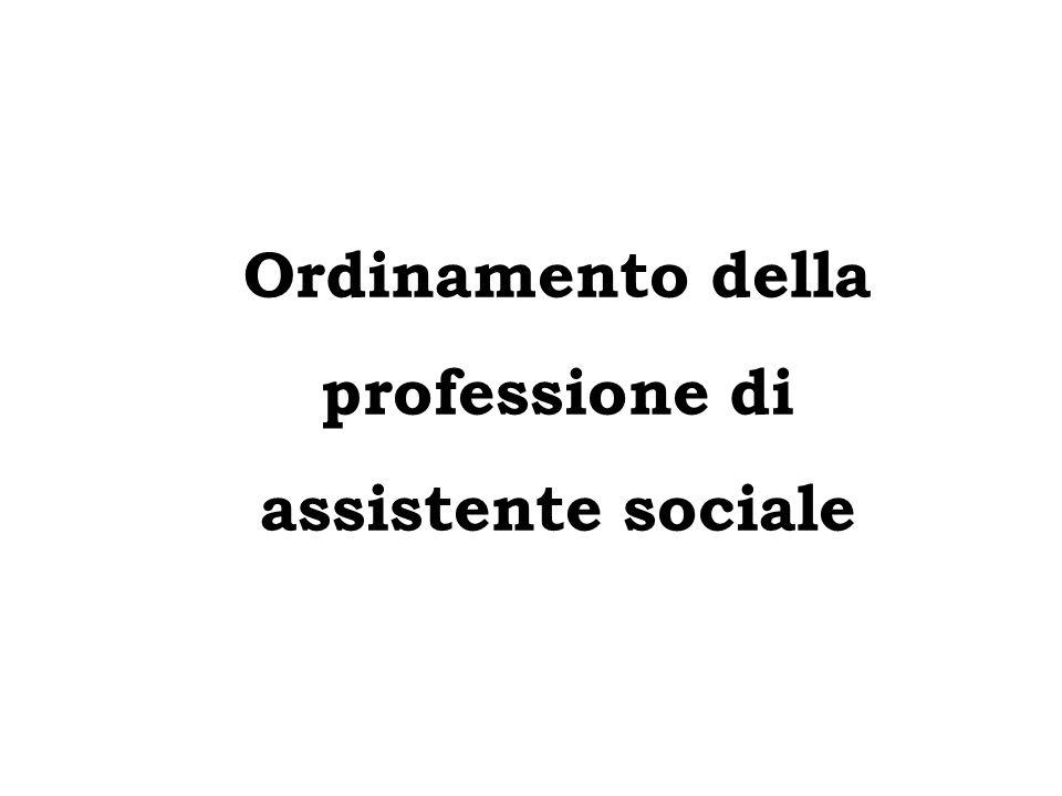Ordinamento della professione di assistente sociale