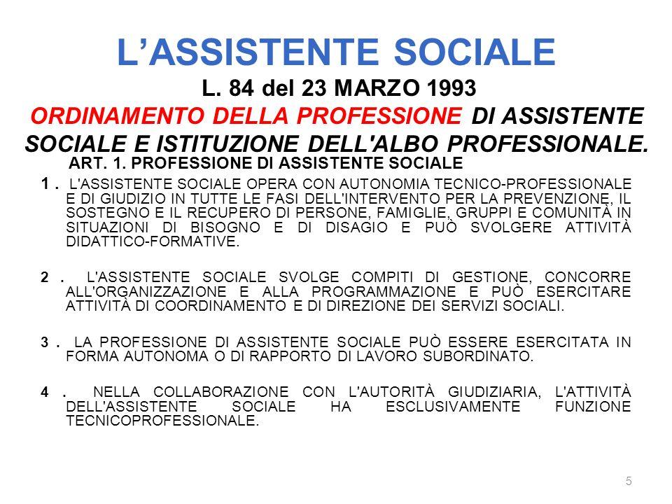 L'ASSISTENTE SOCIALE L.