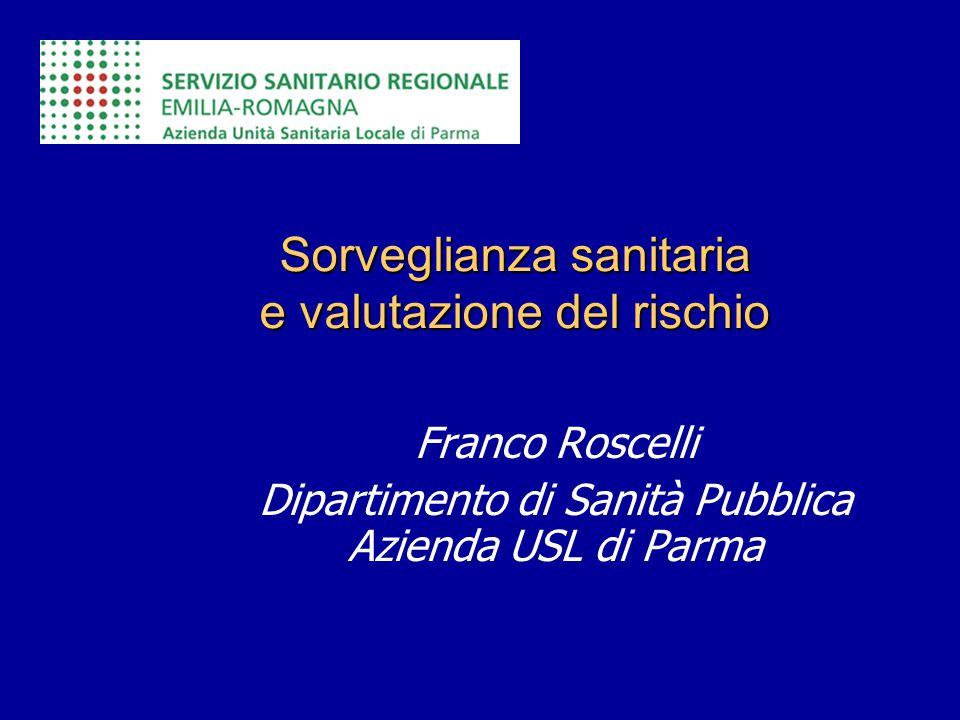 Sorveglianza sanitaria e valutazione del rischio Franco Roscelli Dipartimento di Sanità Pubblica Azienda USL di Parma