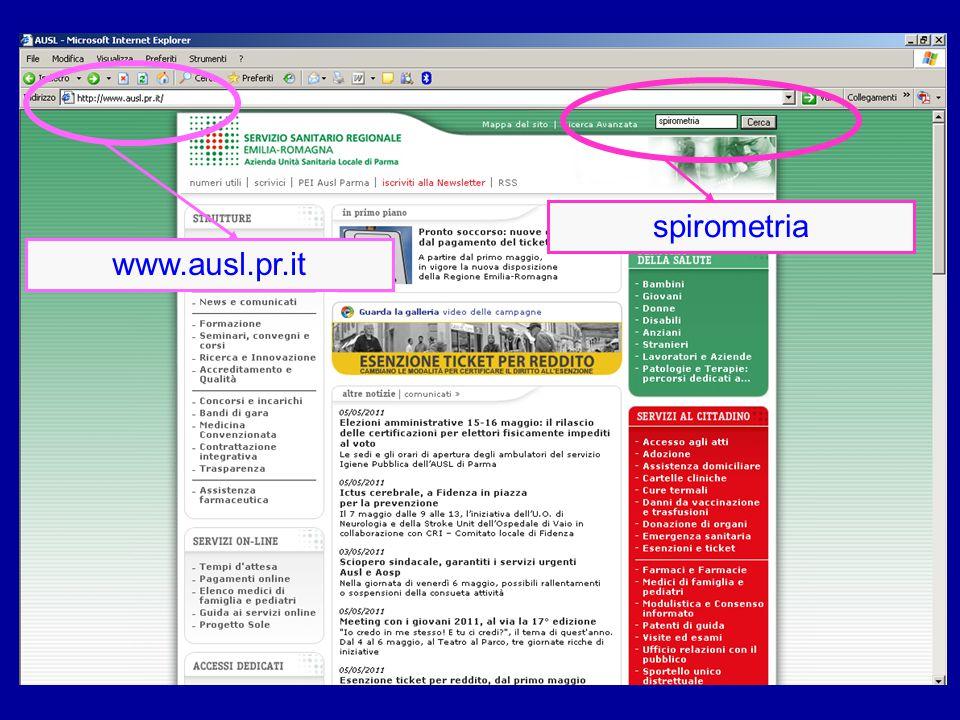 www.ausl.pr.it spirometria