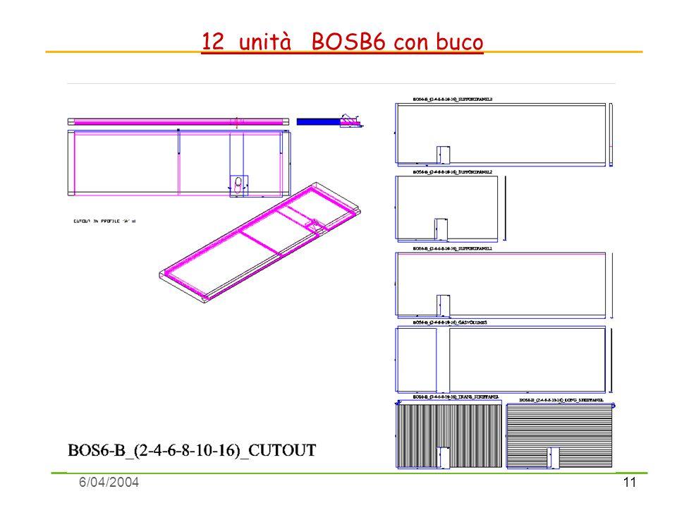 11 6/04/2004 12 unità BOSB6 con buco
