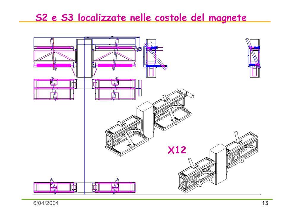 13 6/04/2004 S2 e S3 localizzate nelle costole del magnete X12