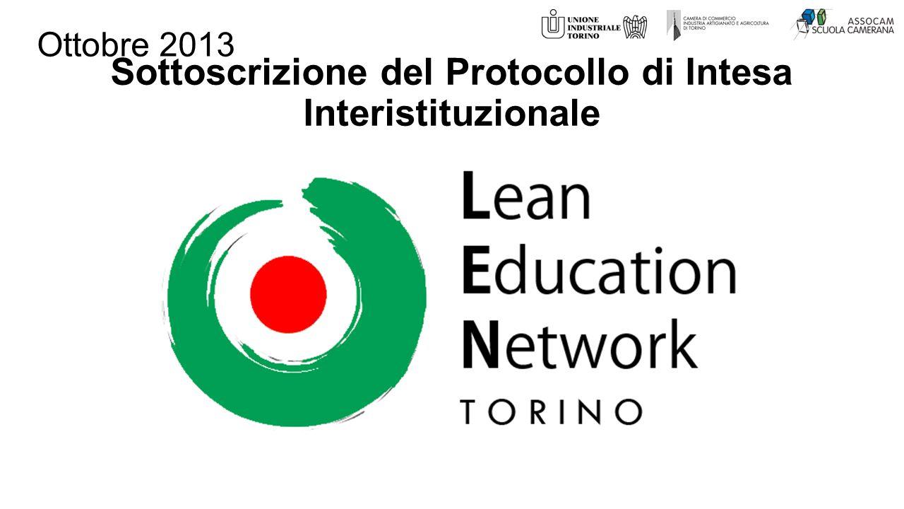 Sottoscrizione del Protocollo di Intesa Interistituzionale Ottobre 2013