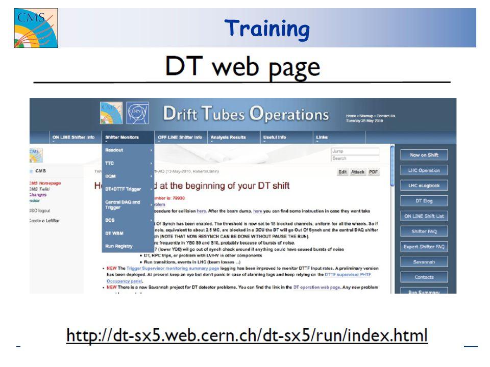 Training: DQM