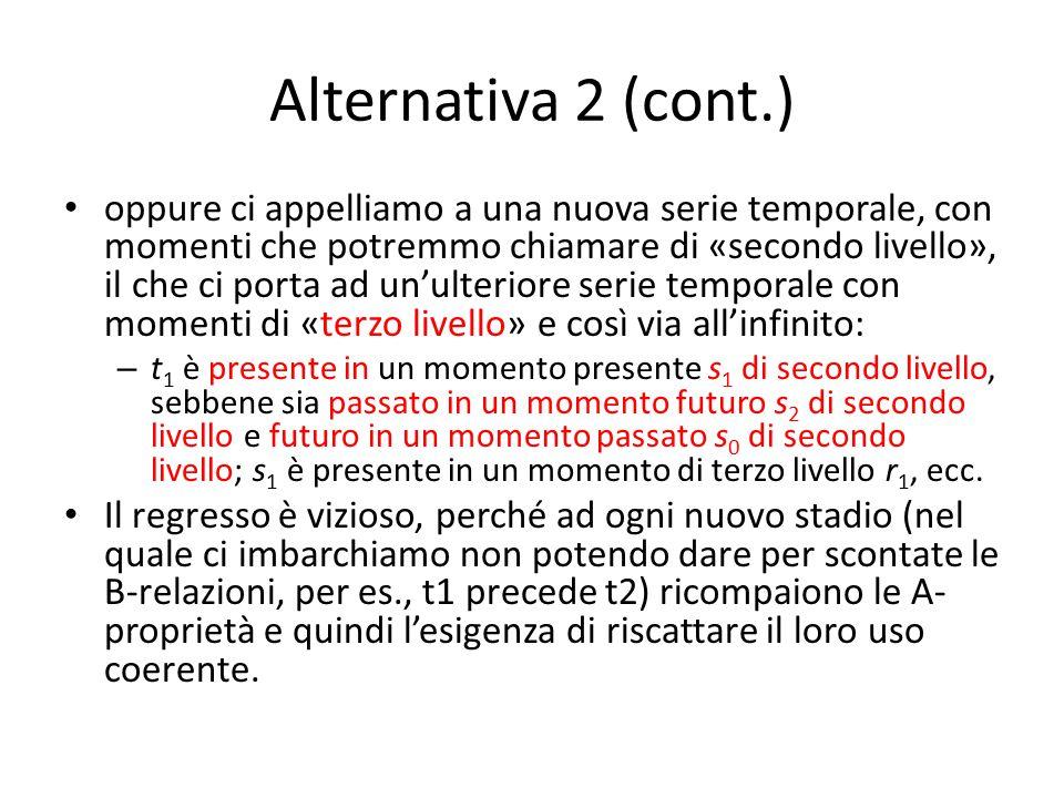 Alternativa 2 (cont.) oppure ci appelliamo a una nuova serie temporale, con momenti che potremmo chiamare di «secondo livello», il che ci porta ad un'