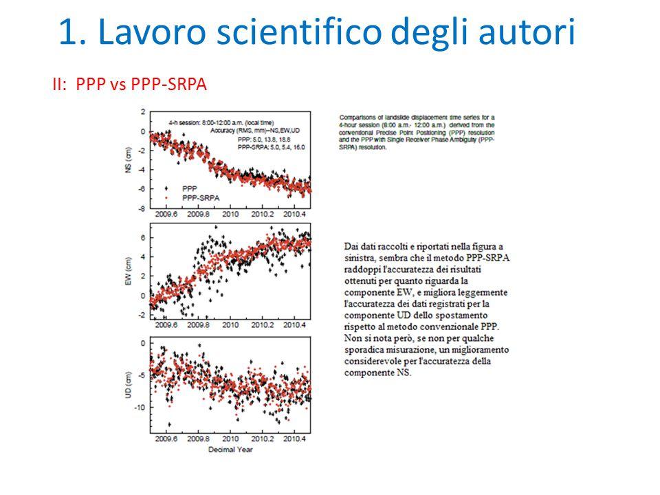 1. Lavoro scientifico degli autori II: PPP vs PPP-SRPA