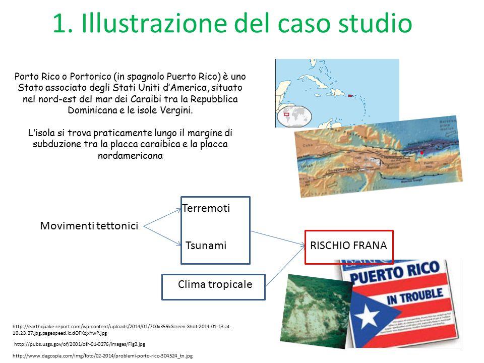 1. Illustrazione del caso studio Porto Rico o Portorico (in spagnolo Puerto Rico) è uno Stato associato degli Stati Uniti d'America, situato nel nord-