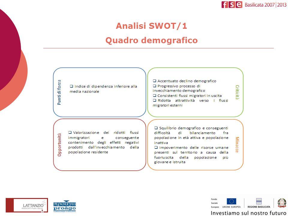 Analisi SWOT/1 Quadro demografico