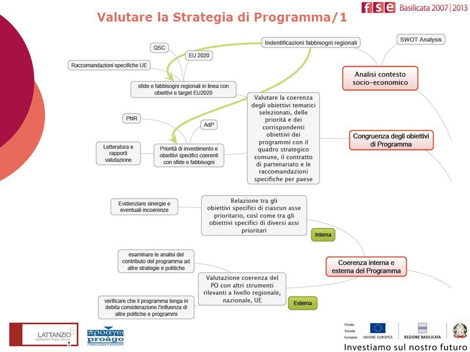 Componenti VEXA Valutare la Strategia di Programma/1