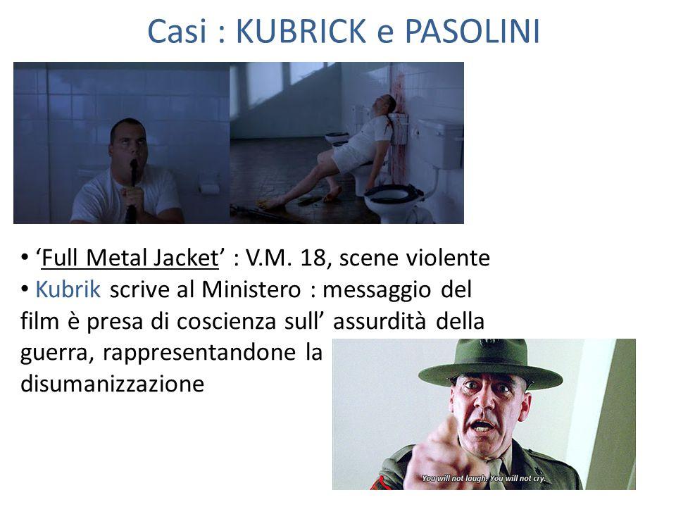 Casi : KUBRICK e PASOLINI 'Full Metal Jacket' : V.M.