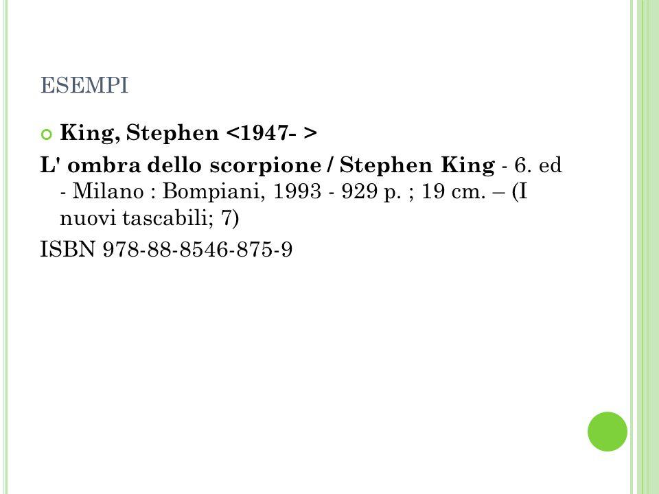 ESEMPI King, Stephen L ombra dello scorpione / Stephen King - 6.