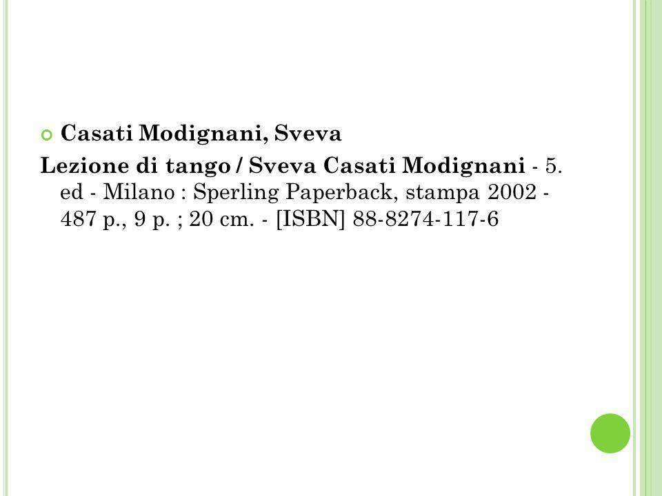 Casati Modignani, Sveva Lezione di tango / Sveva Casati Modignani - 5.