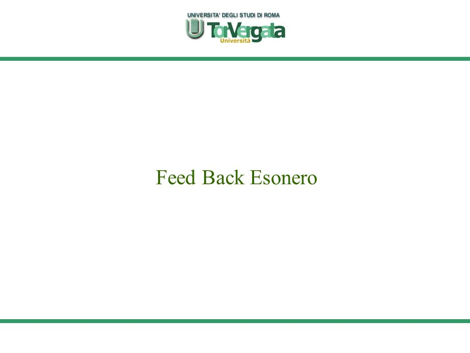 Feed Back Esonero