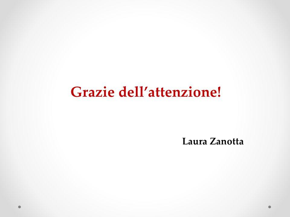 Grazie dell'attenzione! Laura Zanotta