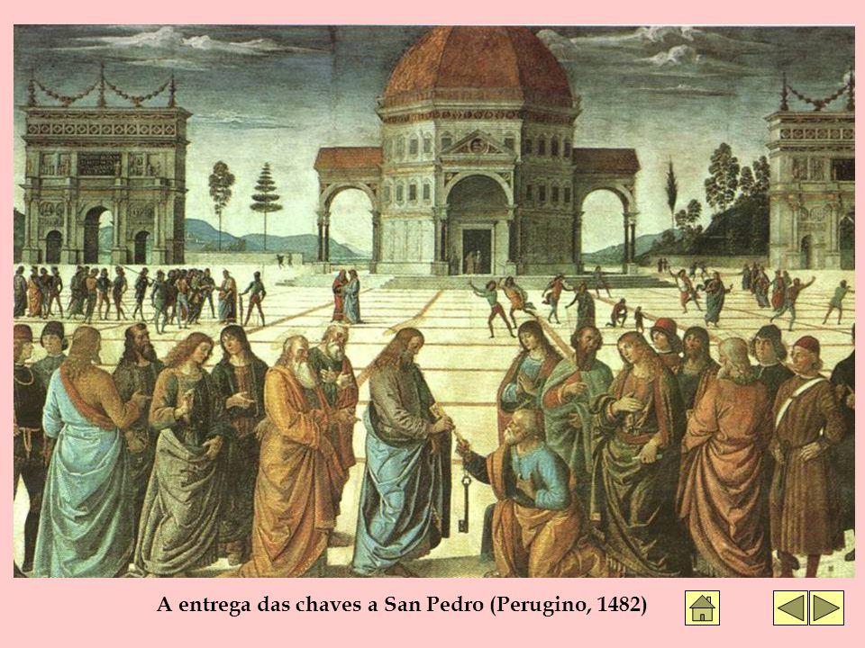A entrega das chaves a San Pedro (Perugino, 1482)