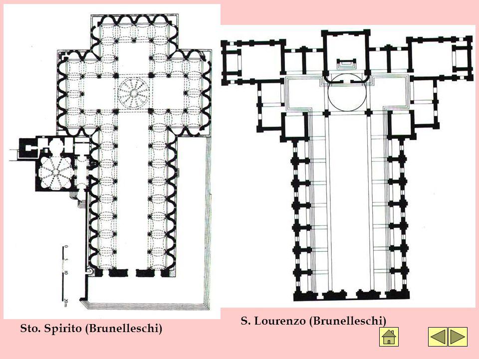 Sto. Spirito (Brunelleschi) S. Lourenzo (Brunelleschi)