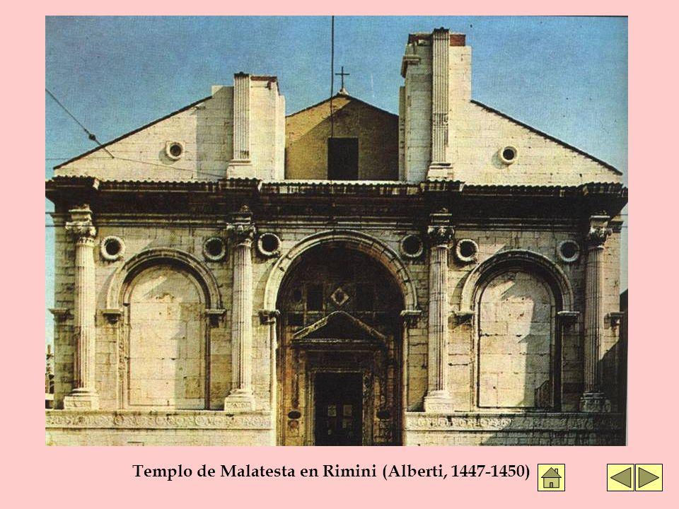 Templo de Malatesta en Rimini (Alberti, 1447-1450)