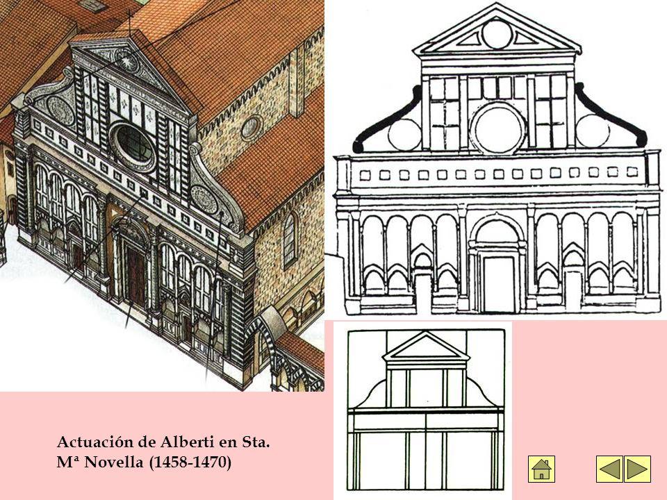 Actuación de Alberti en Sta. Mª Novella (1458-1470)