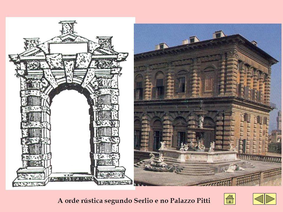 A orde rústica segundo Serlio e no Palazzo Pitti