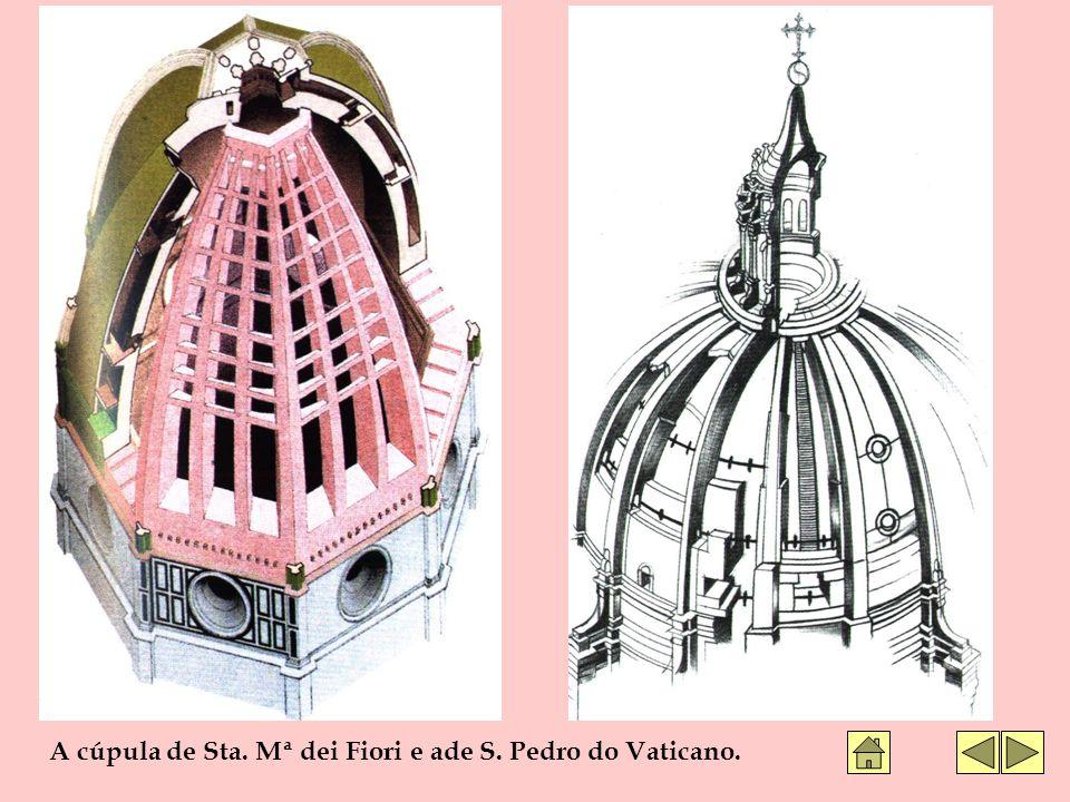 A cúpula de Sta. Mª dei Fiori e ade S. Pedro do Vaticano.