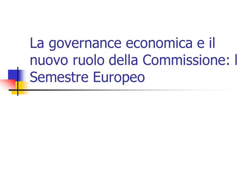 La governance economica e il nuovo ruolo della Commissione: l Semestre Europeo