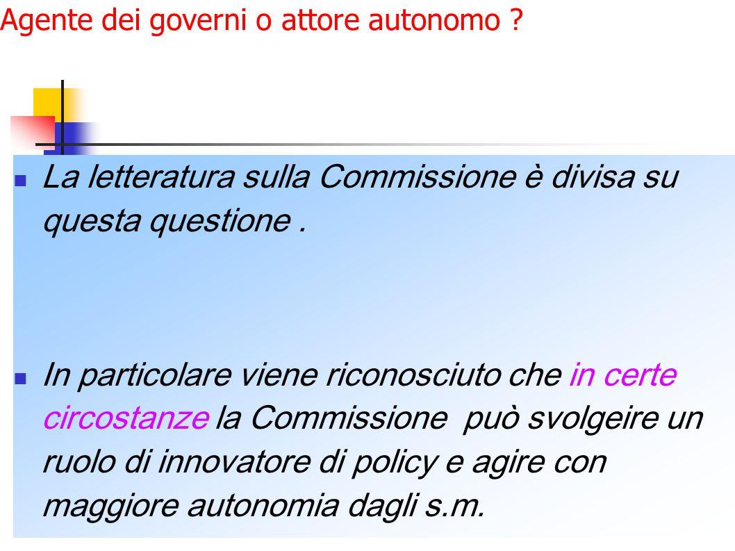 Agente dei governi o attore autonomo .