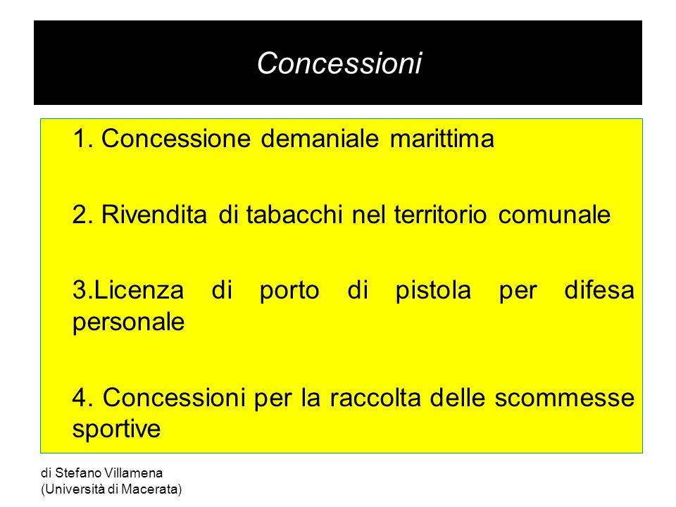 Concessioni 1.Concessione demaniale marittima 2.