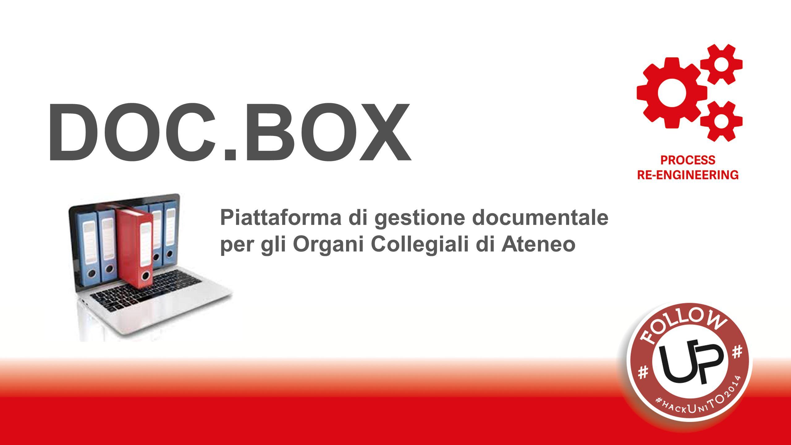 DOC.BOX Piattaforma di gestione documentale per gli Organi Collegiali di Ateneo