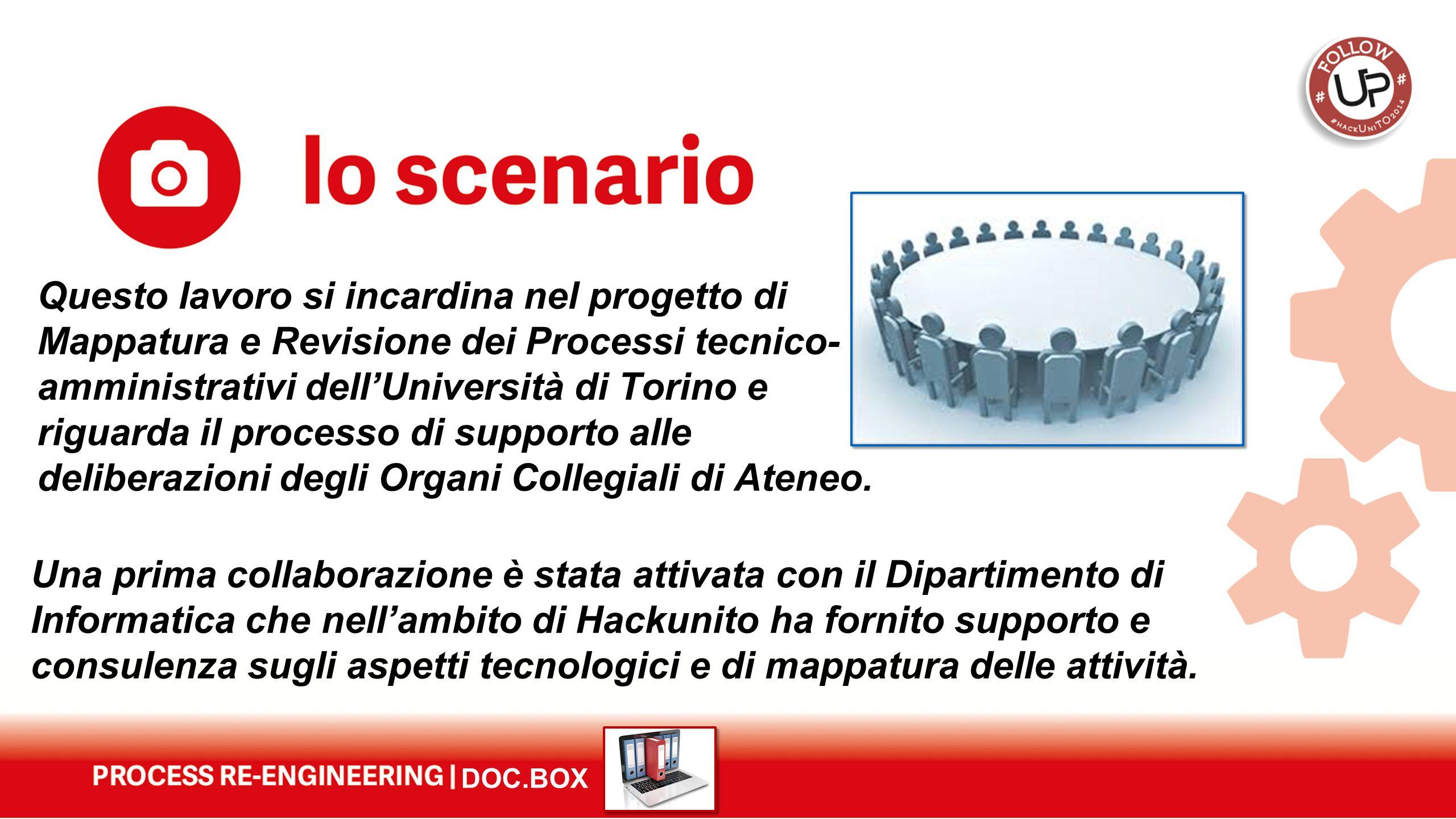 DOC.BOX Una prima collaborazione è stata attivata con il Dipartimento di Informatica che nell'ambito di Hackunito ha fornito supporto e consulenza sug
